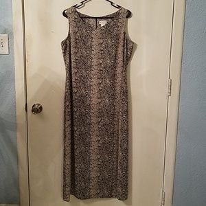 🔥🔥LIZ CLAIBORNE Maxi Snakeskin Sleeveless Dress